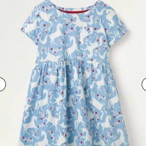 NWT Mini Boden Fun Unicorn Jersey Dress